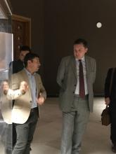HMA Jon Wilks CMG visiting the Basrah Museum with Qahtan Al Abeed - April 2018