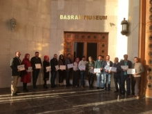 Trainees holding their Certificates on Day 6 of the FOBM Museum Training Programme - January 2018